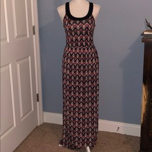 Charlotte Russe open back maxi dress